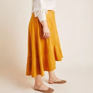 Anthropologie Maeve faux suede skirt BNWT